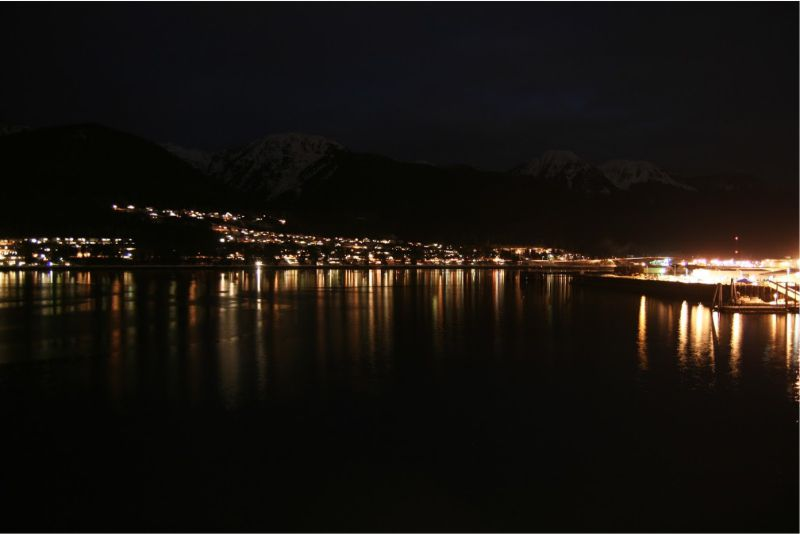Juneau at night